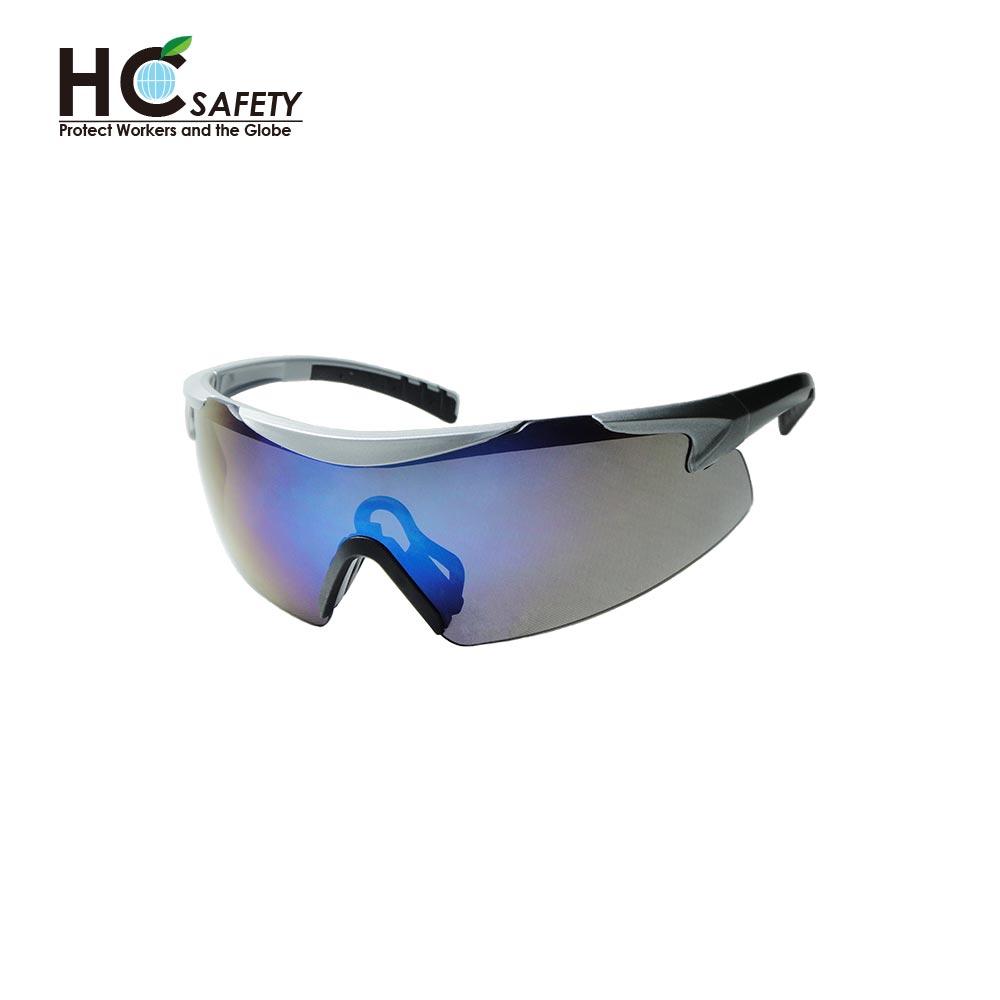 Safety Glasses Blue Mirror Lens HC436
