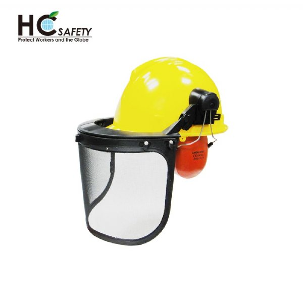 Safety Helmet Face Shield Earmuffs Set H101-WM