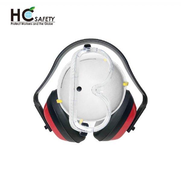 Safety Earmuffs Goggles Respirator H-3