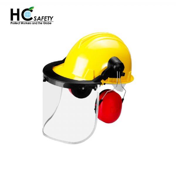 Safety Helmet Face Shield Earmuffs Set H101-AL