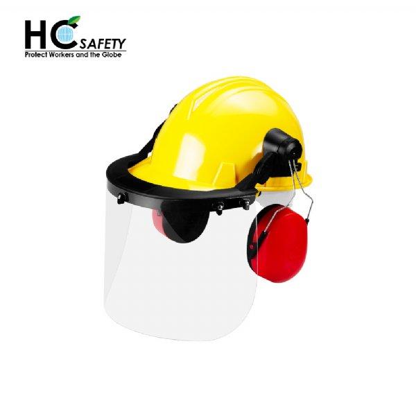 Safety Helmet Face Shield Earmuffs Set H101-PC
